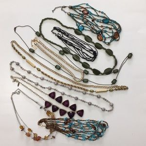 Necklace Lot Various Lengths and Colors
